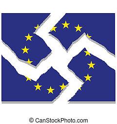 European Union - Illustration of the disintegration of the...