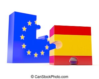 European union with spain flag