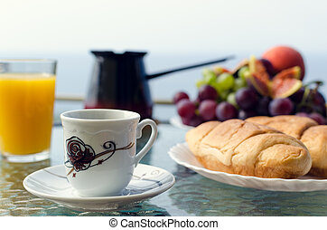 European vacation healthy breakfast