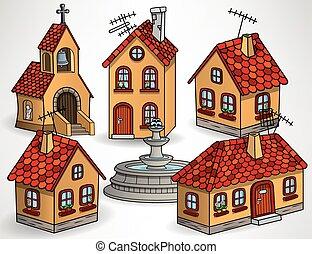 European village houses