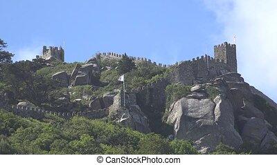 europejczyk, zamek, na, pagórek