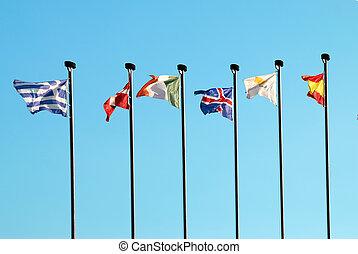 europejskie bandery