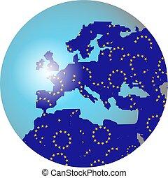europeo, globo