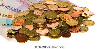 euros coin money europe concept background