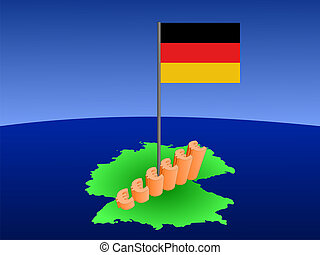 euros graph on Germany