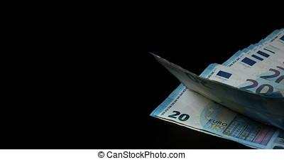 Euros Money Falling, Slow motion 4K