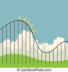 Euros on Roller Coaster
