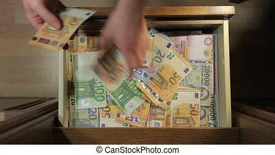 euros, tło, banknotes
