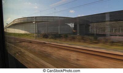 Eurostar in Kent, UK. - Travelling on a Eurostar train...
