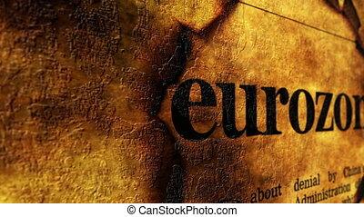 Eurozone grunge concept