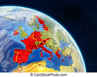 Eurozone member states from space on realistic model of ...