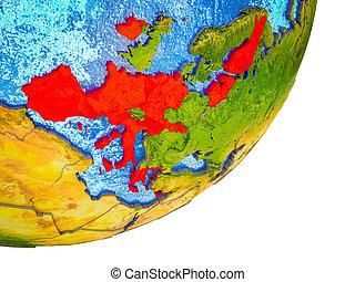 Eurozone member states on 3D Earth - Eurozone member states ...