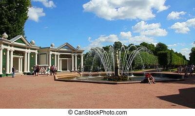 Eva fountain in petergof park St. Petersburg Russia