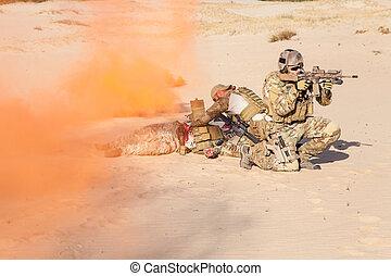 Evacuation in the desert
