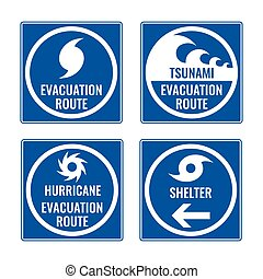 Evacuation route and shelter in case of tsunami or hurricane...