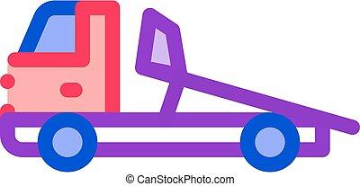 Evacuator Truck Icon Vector Outline Illustration