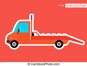 Evacuator truck isolated