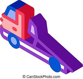 Evacuator Truck isometric icon vector illustration