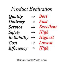 evaluación, de, producto