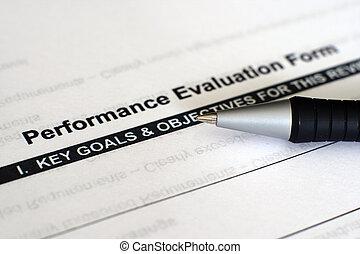 evaluación desempeño, forma