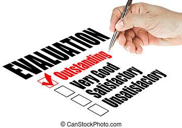 evaluación, encuesta, calidad