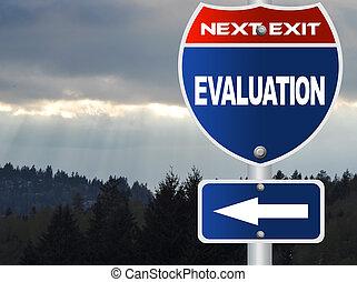 evaluación, muestra del camino