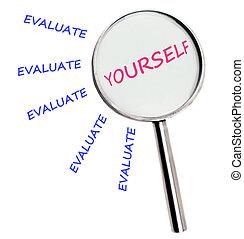 evaluar, usted mismo