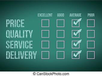evaluate customer survey form illustration design over a ...