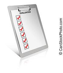 evaluatie, lijst
