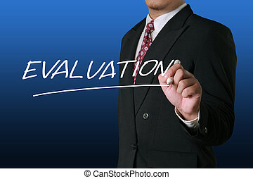 Evaluation, Business Audit Monitoring Motivational Words Quotes Concept