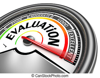 evaluation conceptual meter, isolated on white background