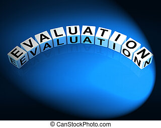 Evaluation Letters Show Judgement Assessment And Review -...