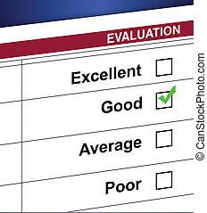 Evaluation list and check box