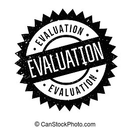 Evaluation rubber stamp. Grunge design with dust scratches....