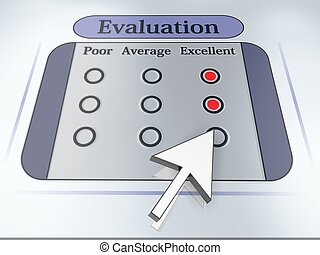 Evaluation. Voting concept. Mouse arrow. High resolution ...