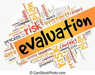Evaluation word cloud, business concept