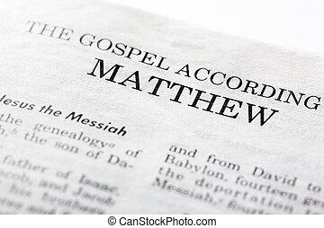 evangélium, közül, mathew