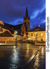 Evangelical Cathedral of Saint Mary and Bridge of Lies in Sibiu