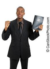 evangelie, bijbel, prediking, vasthouden, man