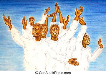 evangelie, het zingen