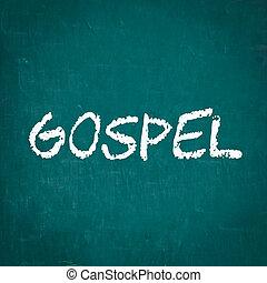evangelium, napsáný, dále, tabule