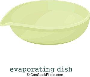 Evaporating dish icon, cartoon style - Evaporating dish...