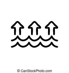evaporation icon vector. evaporation sign. isolated contour symbol illustration
