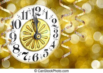 eve anni nuova, orologio