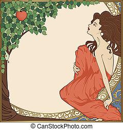 Eve, art-nouveau style
