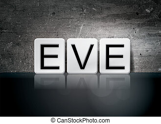 Eve Concept Tiled Word