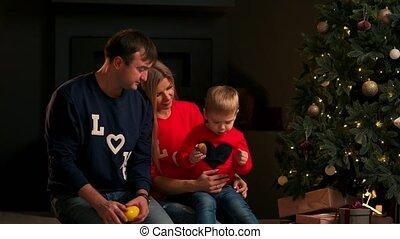 eve., jongen, koekjes, geitjes, geschenken., gezin, opening, boompje, eten, kadootjes, kinderen, vieren, vakantie, home., kerstmis, kid., kerstmis