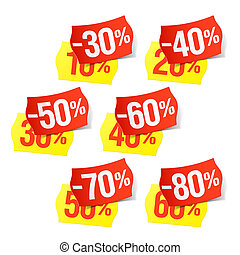 Even more discounts - price tags - Vector illustration of a...