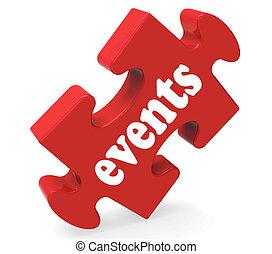 evenementen, raadsel, middelen, concerten, gelegenheden,...