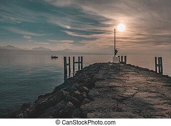 evening at lake